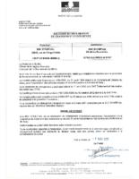 Récépissé changement d'exploitant UTM Syner'Val le 07/03/2017